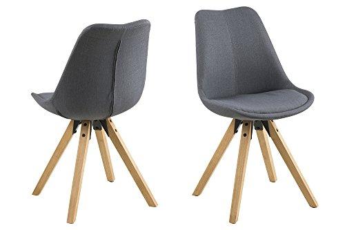 AC Design Furniture 63761 Esszimmerstuhl, Stoff, dunkelgrau, 42 x 44 x 85 cm