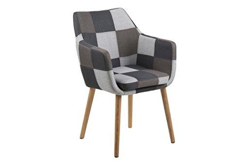 AC Design Furniture 64865 Armstuhl, Stoff, mehrfarbig, 58 x 58 x 84 cm