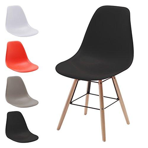 Hausstrahlung Retro Stuhl Schalenstuhl Pop Art Deco Esszimmer Stühle Plastik Regie Vintage, Farbe: Schwarz, Menge: 1 Stuhl