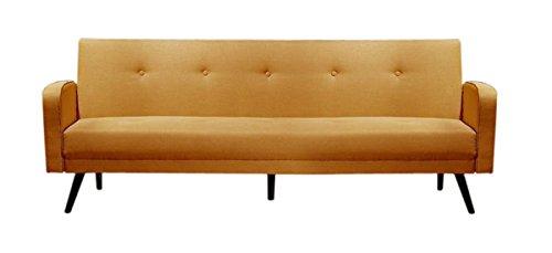 Kasper-Wohndesign KA109894 Ecksofa, Stoff, senf, 212 x 110 x 41 cm