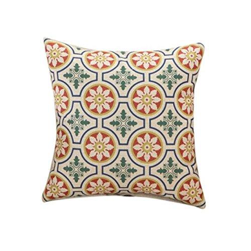 Kissenbezug,LHWY Retro-geometrischen florale Bettwäsche Baumwolle Kissen Fällen Kissen Cover Home Decor
