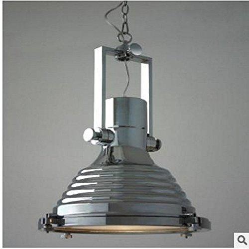 Lightess 40W Industrie Retro Kronleuchter Vintage Loft Hängelampe1 X E27 Edison Leuchtmittel geeignet für Wohnfläche, Korridor, Schneise, Schlafzimmer, Restaurant, Café, Bar usw. Chrom