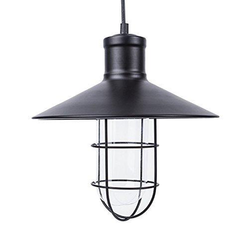 Lightess 40W Retro Industrie Hängelampe Vintage Loft Pendelleuchte aus Eisen geeignet für Wohnfläche, Korridor, Schneise, Schlafzimmer, Restaurant, Café, Bar (keine 1 X E27 Leuchtmittel enthalten)