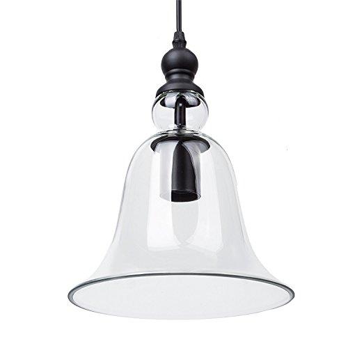 Lightess Industrielle Vintage LED Pendelleuchte Hängeleuchte Industrial Decke Glas Pendelleuchte, Retro Deckenbeleuchtung Restaurant Pendelleuchte Shade E27 Base