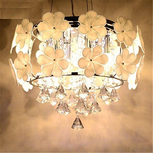 Lightess LED Hängelampe Kristalle Kronleuchter Dekorative Europäische Pendelleuchte Höhenverstellbar für Studierzimmer Wohnzimmer Restaurant Esszimmer Cafe Bar usw. (6 x E14 LED Lichtquellen enthalten)