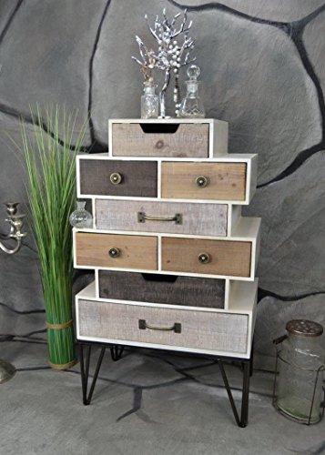 Livitat® Sideboard Retro Schrank Vintage Kommode Industrie Loft Design LV5042