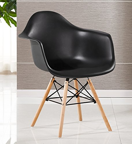 P & N Homewares® Moda Wanne Stuhl Kunststoff Retro Esszimmer Stühle weiß schwarz grau rot gelb grün schwarz