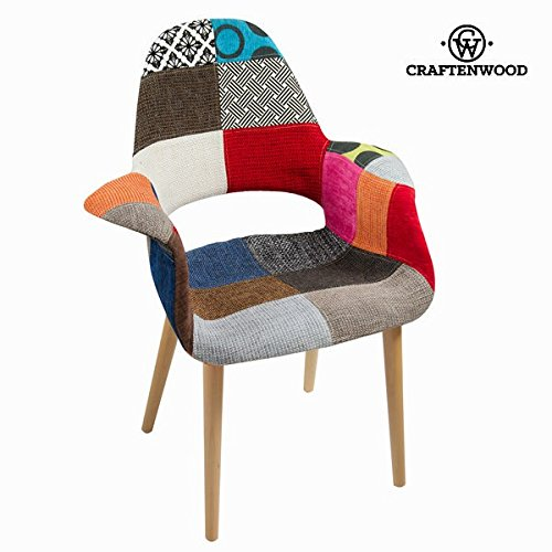 Patchwork polypropylen stuhl by Craften Wood