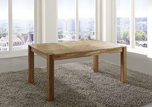 SAM® Esszimmertisch Eiche massiv 140 x 90 cm Egon, Tisch, Wildeiche, geölt, natürliche Optik, Handarbeit, dicke und stabile Stempel