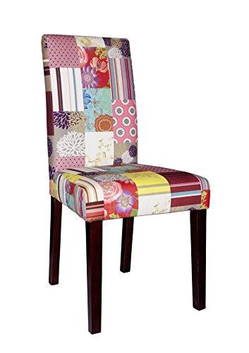 SIT-Möbel 4717-30 2-er Set Vollpolsterstuhl , Bezug 100 prozent PES, Beine Pinie konolial, Patchwork Samt, 20.000 Scheuertouren