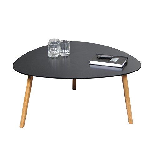 WEBER INDUSTRIES 024516 Couchtische, Holz, schwarz, 80 x 80 x 40 cm