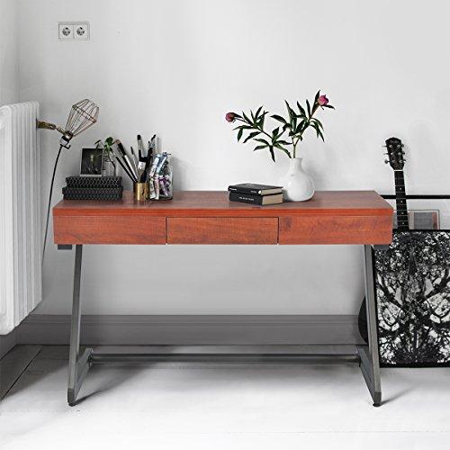 innovareds-uk Vintage Style Einfach 1Schublade Multifunktionaler Wohnzimmer Flur Konsole braun 39,3* 120* 75cm
