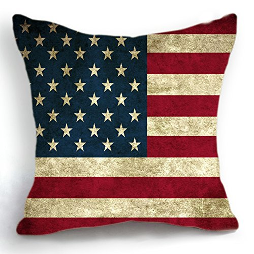 telisha Retro Design USA American Flagge Home Decor Werfen Kissenbezug Kopfkissenbezug Sham 45 cm