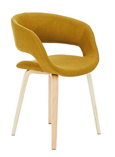 AC Design Furniture 60105 Esszimmerstuhl Jack, Corsica Stoff curry