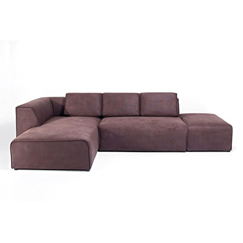 Sofa Infinity Antique 74 Ottomane Links Braun Stoff B302xT182xH70 by Kare Design