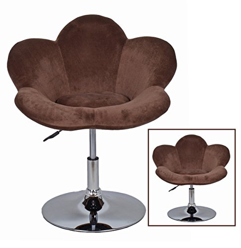 "1x Barhocker Blume"" in Braun in Blumenform Lounge Sessel Barsessel Clubsessel Cocktailsessel Drehsessel"