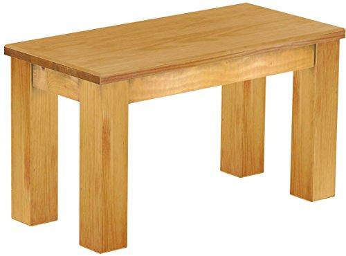 Brasilmöbel Sitzbank 'Rio Classico' 80 cm, Pinie Massivholz, Farbton Honig