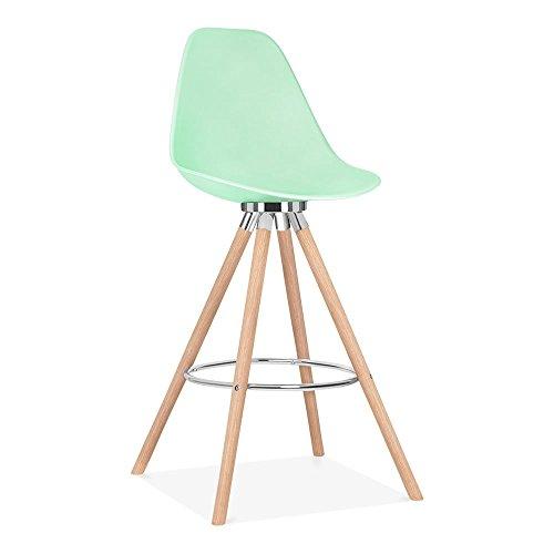 Cult Design Moda Barhocker mit Rückenlehne CD2 - Pastellgrün