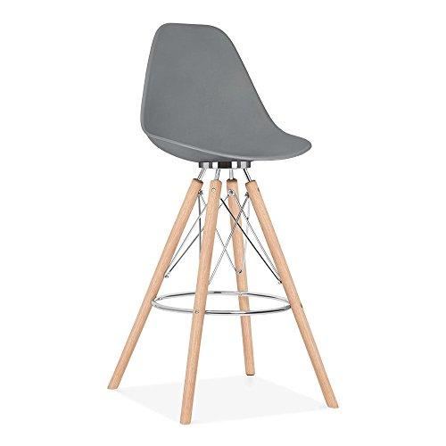 Cult Design Moda Barhocker mit Rückenlehne CD3 - Grau