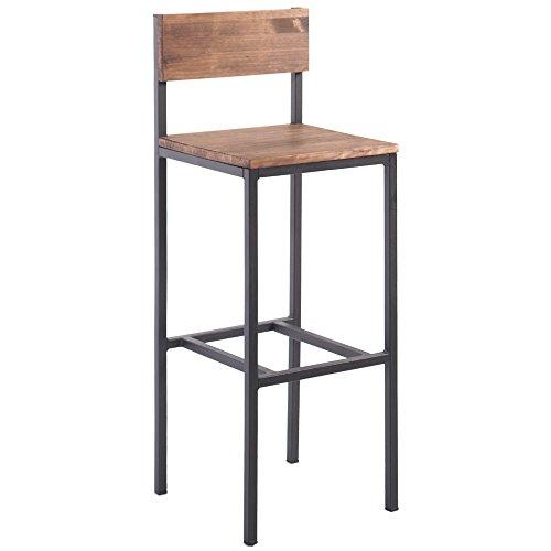 Indhouse - Hocker Vintage-Design Loft industriellen Stil Eisen und Holz Camden