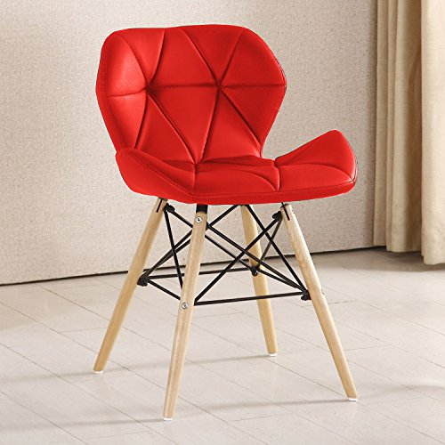 P & N Homewares® Cecilia Eiffel millmead inspiriert Stuhl aus Kunststoff Retro Weiß Schwarz Grau Rot Esszimmerstuhl Büro Stuhl Lounge rot