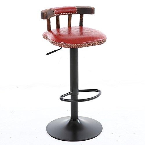 Retro Barhocker / American Massivholz Barhocker / Couchtische und Stühle Daunen / Barhocker 38,5 * (60-80) cm ( Farbe : 5 )