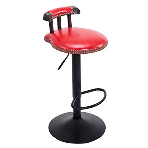Schmiedeeiserne Barhocker Retro-Barhocker gehobene Barhocker personalisierte Barhocker Vintage-Barhocker können angehoben und gesenkt werden können um 360 Grad gedreht werden ( Color : Red )