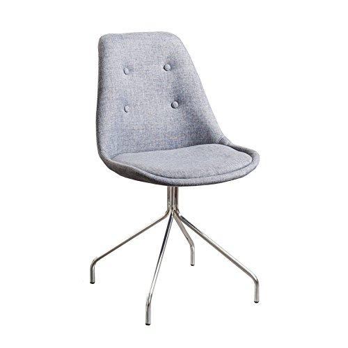 Zeitloser Design Stuhl SPIDER in grau mit verchromtem sternförmigem Gestell