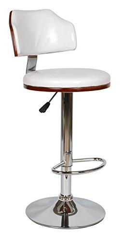ts-ideen Design Club Barhocker Barstuhl Küchen Esszimmer Stuhl Sitz Weiß Holz Sitzhöhe 61 x 82 cm