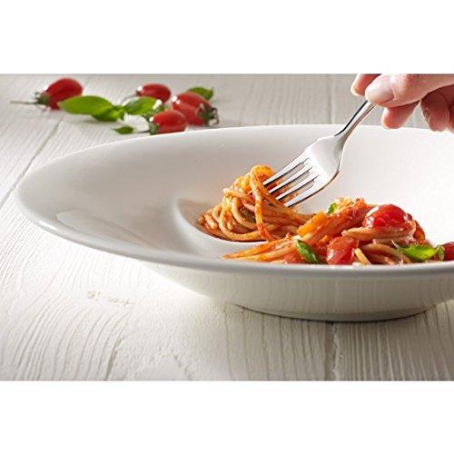 Villeroy & Boch Pasta Passion Spaghetti-Teller / Edle Pastateller aus Porzellan in praktischem Design / Tellerset für 2 Personen / 1x Set (2-teilig)