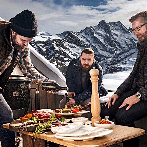 Villeroy & Boch BBQ Passion Steakteller-Set M / Funktionale Grillteller mit praktischen Unterteilungen / Aus hochwertigem Porzellan in Weiß / Mikrowellensicher / 4 x (24 x 22cm)