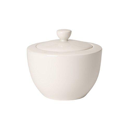 Villeroy & Boch 10-4153-0960 For Me Zucker-/Marmeladendose 6 Personen, 0,3 l, aus Porzellan im puristischen weißen Design