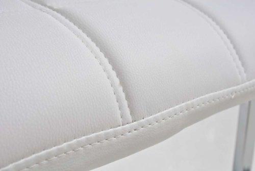 CLP Freischwinger EMILY mit hochwertiger Polsterung und Kunstlederbezug   Schwingstuhl mit Metallgestell und einer Sitzhöhe von: 50 cm   In verschiedenen Farben erhältlich Weiß