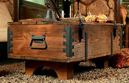 Alte Truhe Kiste Tisch shabby chic Holz Beistelltisch Holztruhe Couchtisch Länge: 81 cm Höhe: 39 cm Tiefe: 50 cm