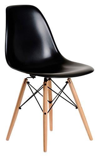 Aryana Home Eames Replik–Set Stühle, 51x 46,5x 81,5cm 51x46.5x81.5 cm Schwarz