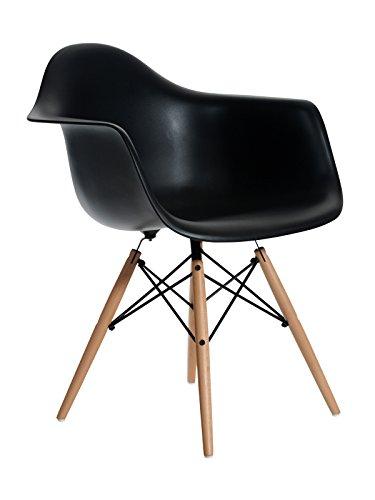 Aryana Home Eames Replik Sessel, 59x 62x 82,50cm 59x62x82.5 cm Schwarz