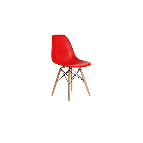 Aryana Home Stuhl aryasam017Replica Eames, Holz 54x46,5x82 rot
