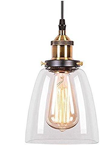 Asvert Pendelleuchte Glas Vintage Hängeleuchte Retro Industrial Hängelampe E27 Anhänger Deckenleuchten Küche Industire Lampe für Esstisch Esszimmer Küche Loft Schlafzimmer Cafes Bar usw.