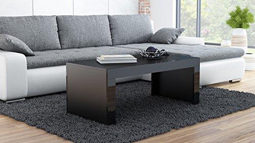 Couchtisch Wohnzimmertisch Coffe table TESS (schwarz matt / schwarz hochglanz)