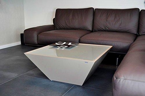 DESIGN COUCHTISCH Carl Svensson Pyramide MV-3 Cappuccino Milchglas