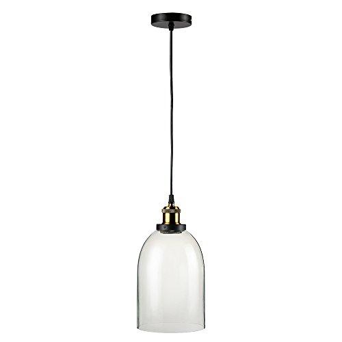 Glighone Industrie Hängelampe Vintage Pendelleuchte Glas Retro Lampenschirm Loft Deckenleuchte E27 für Esstisch Esszimmer Küche Wohnzimmer Bar Hotel Restaurant usw.