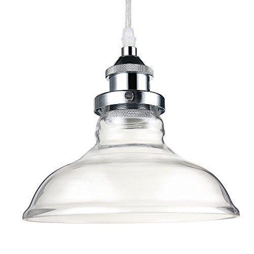 Glighone Pendelleuchte Vintage Glas Shade E27 für Esstisch Esszimmer Wohnzimmer Cafe´...[Energieklasse A]