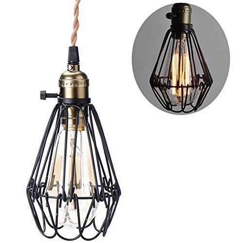 Industrie beleuchtung Metall Schatten Loft Pendelleuchte Retro-Deckenleuchte Vintage-Lampenschirme Retro Lampe Shade Loft Coffee Bar Küchenhänge pendelleuchte(E27,1M,Glühbirne nicht inbegriffen)