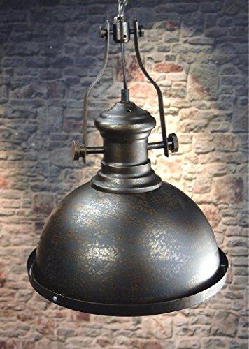 Livitat® Deckenleuchte Pendelleuchte Fabrikleuchte Industrie Look Retro Ø32 cm Vintage Schwarz LV3061