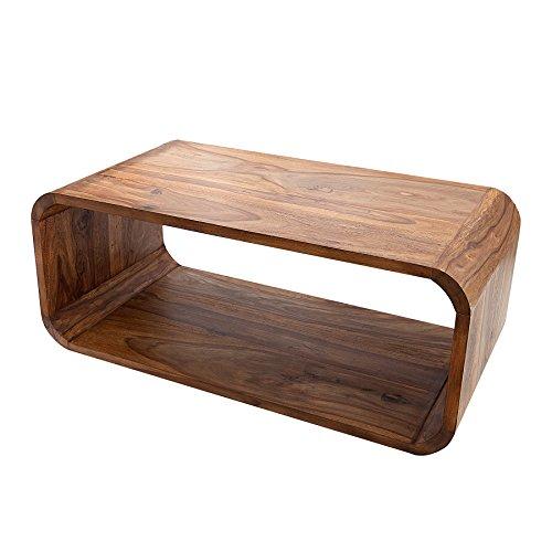 Massiver Holz Couchtisch CUBE 100cm Sheesham stone finish TV-Board Beistelltisch Massivholz Tisch Holztisch
