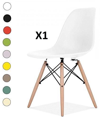 Millhouse hochwertige Stühle im Retro-Eiffelturmstil, für Esszimmer, Büro, als Beistellstuhl oder Vorzeigestück. weiß