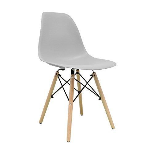 Nordische Stuhl–Stuhl tower One Stuhl Nordic Skandinavien inspiriert Sessel Eames DSW–(wählen Sie Ihre Farbe) grau