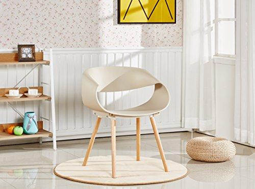 P & N Homewares® Nest Stuhl Kunststoff Retro modernen Esszimmerstühlen, weiß schwarz grau gelb braun, plastik, cappuccino, One Chair