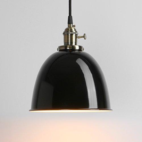 Pathson Industrie Loft-Pendelleuchte Antik Deko Design Metall Schirm innen Pendelleuchte Hängeleuchte Vintage Hängelampen Hängeleuchte Pendelleuchten (Schwarz)
