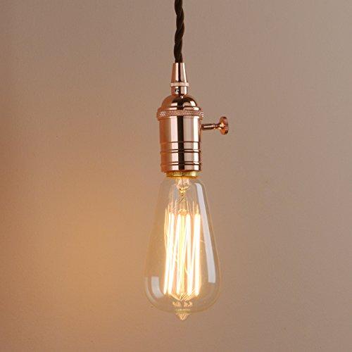Pathson Vintage Industrie Loft-Pendelleuchte Antik Deko Design Pendelleuchtung Hängeleuchte Hängelampen (Kupfer Farbe)